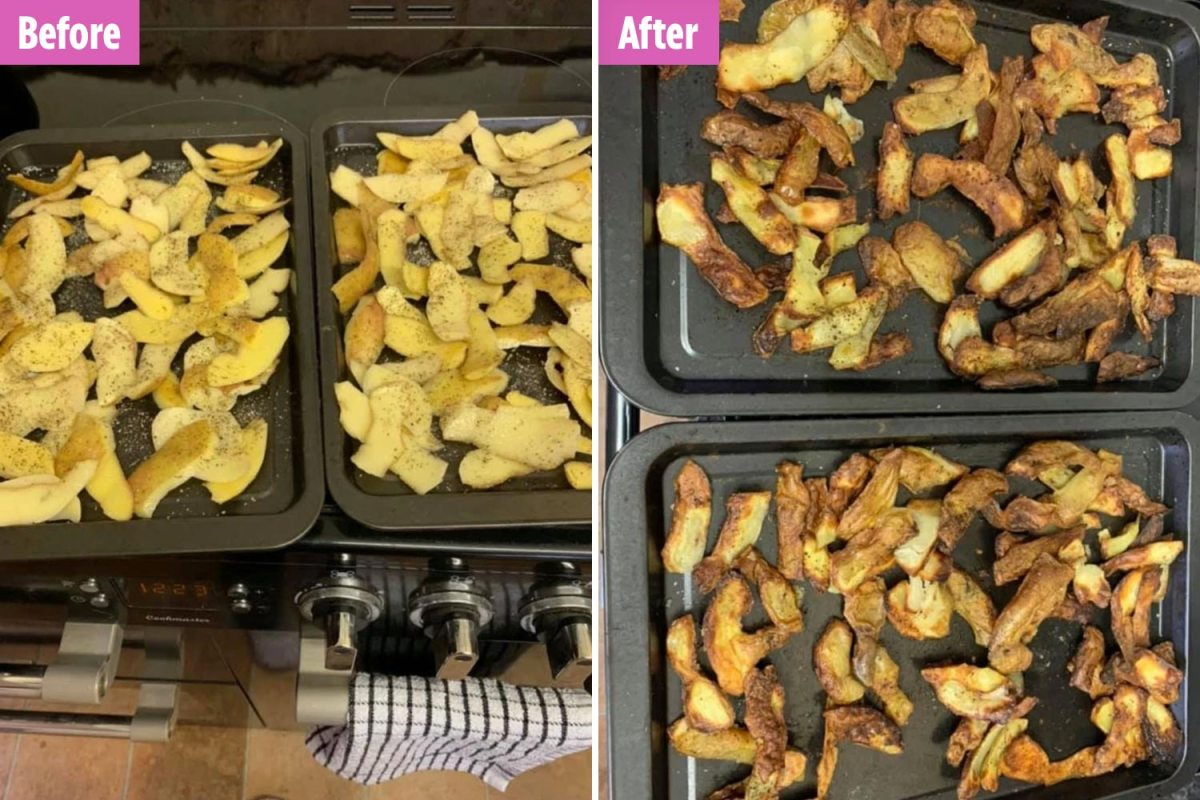 Photo of Genius dad reveals the best way to make do-it-yourself chips utilizing outdated potato peelings – and his children love them
