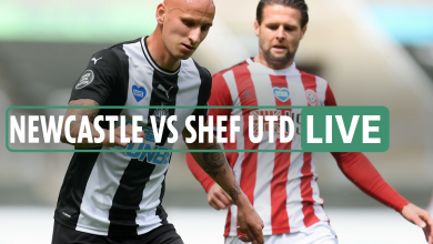 Photo of Newcastle 2-Zero Sheffield United LIVE SCORE: Ritchie stunner doubles Toon lead after Saint-Maximin strike as Egan despatched off