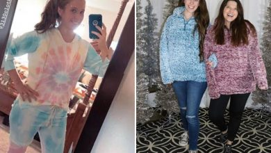 Photo of Jill Duggar shocks followers by sporting tie-dye sweatsuit for insurgent cousin Amy's horny clothes line after ditching household