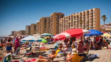 Photo of Spanish seashores pressured to show away Brit vacationers to take care of social distancing after second wave fears