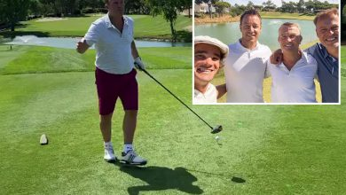 Photo of Chelsea legend John Terry in hilarious golf tutorial from The Chase's Bradley Walsh and Dragons' Den's Peter Jones