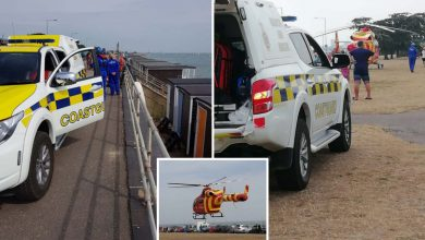 Photo of Baby pulled from sea with hypothermia after drifting 300m off seaside in dinghy