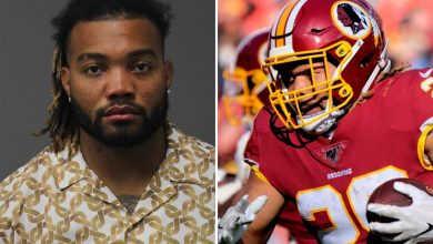 Photo of Washington Soccer Staff star Derrius Guice, 23, arrested for home abuse after turning himself in to cops