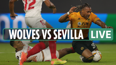Photo of Wolves 0-Zero Sevilla LIVE: Stream, TV channel, kick-off time, workforce information for Europa League match
