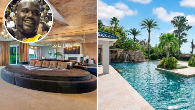 Photo of Inside Shaquille O'Neal's spectacular £15m Florida mansion with big swimming pool, waterfalls and storage for 17 automobiles