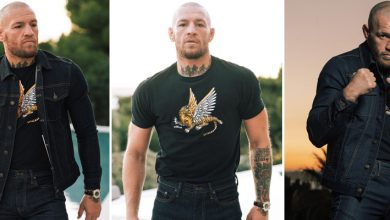 Photo of Conor McGregor fashions his new denim style line as Irish star takes break from coaching for UFC return