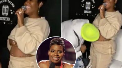 Photo of American Idol winner Fantasia Barrino anticipating first youngster with husband Kendall Taylor after struggling fertility points