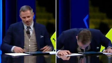 Photo of Jamie Carragher shouts 'oh f***' dwell on US TV forcing CBS to apologise after Alex Scott corrects his gaffe over profession