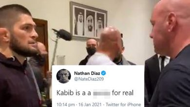 Photo of Nate Diaz manufacturers Khabib a 'p***y' after Dana White reveals UFC champ is open to creating return