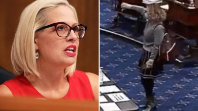 Photo of Dem Senator Kyrsten Sinema slammed for bringing CAKE to Senate earlier than giving thumbs down in $15 minimal wage vote