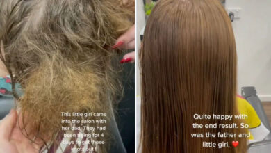 Photo of Hairdresser involves little lady's rescue after dad tries for 4 days to get big knots out of her hair