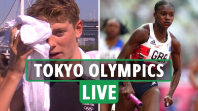 Photo of Tokyo Olympics LIVE RESULTS: Workforce GB set document in 4x100m relay warmth, Liam Heath bronze in canoe dash – updates